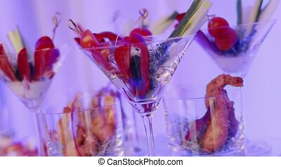 Catering food indoor in luxury restaurant