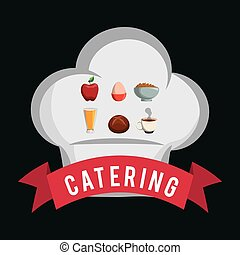 catering food service chef hat shape breakfast poster
