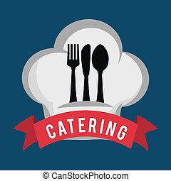 catering food service spoon fork knife hat shape