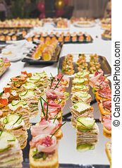 Catering food table decoration