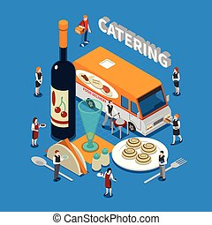 Catering Isometric Composition
