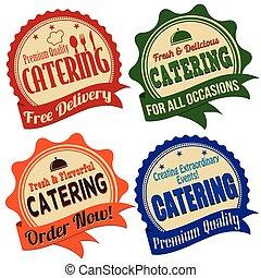 Catering label, sticker or stamps - Promotional label,...