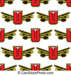 Catering or restaurant seamless pattern