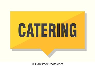 catering price tag - catering yellow square price tag