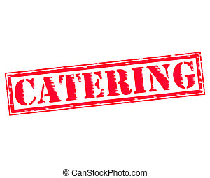 CATERING RED Stamp Text on white backgroud