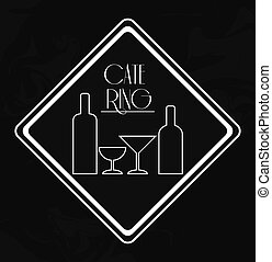 catering service menu food icon - wine bottle cup catering...