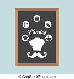 catering service restaurant meal blackboard