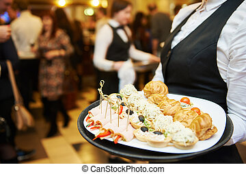 Catering service. waitress on duty - Catering service....