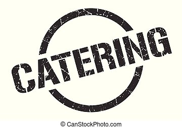 catering stamp - catering black round stamp