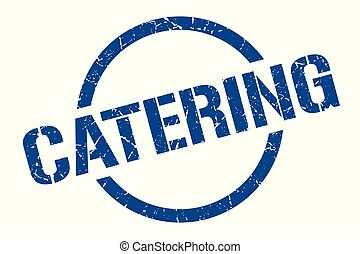 catering stamp - catering blue round stamp