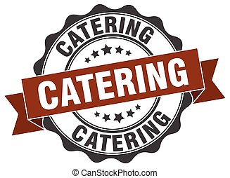 catering stamp. sign. seal