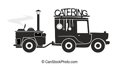 catering symbol template - food truck to prepare of deliver...