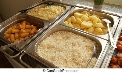 Catering - video footage of a Buffet