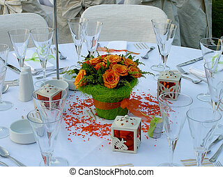 catering wedding table