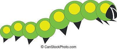 caterpillar 01 - little caterpillar in color 01