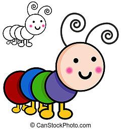 Caterpillar Cartoon Bugs - An image of caterpillar cartoon ...