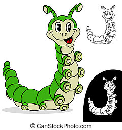 Caterpillar Cartoon Character - An image of a caterpillar...