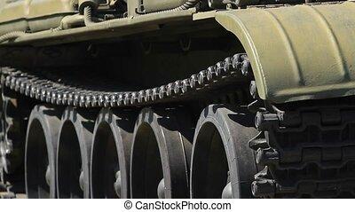 Caterpillar of a military battle tank