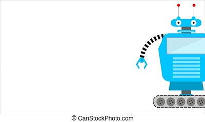 Caterpillar robot, an artistic video illustration of...