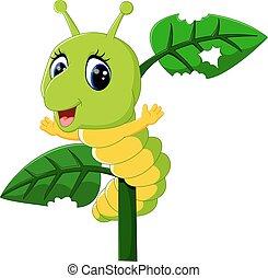 caterpillar runs on a tree