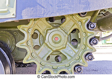 Caterpillar wheel of military transport - Caterpillar wheel...