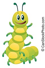 Caterpillar with happy face