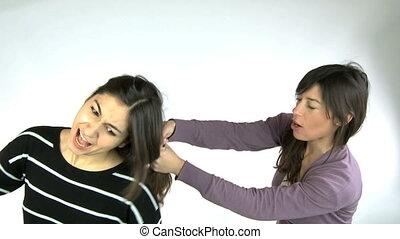 Catfight between girlfriends