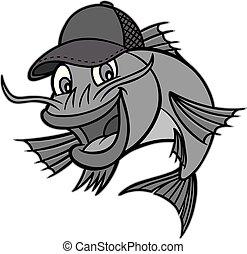 Catfish Mascot Illustration