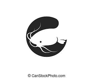 catfish vector icon illustration design