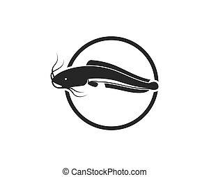 catfish vector icon illustration design