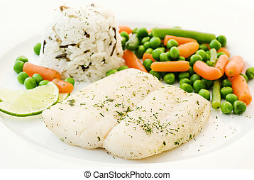 Catfish with Vegetable and Rice