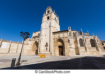 cathédrale, angle, large, palencia, coup