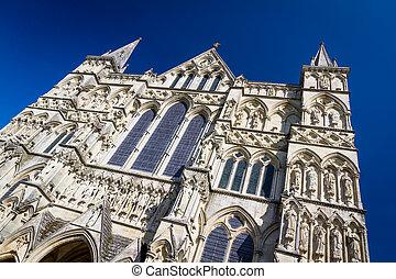 cathédrale, angleterre, wiltshire, royaume-uni, salisbury