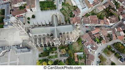cathédrale, célèbre, europe, limoges, france, gothique, ville