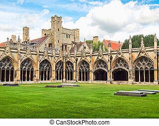 cathédrale, canterbury, hdr