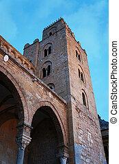 cathédrale, cefalu', sicile, normand