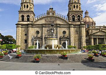 cathédrale, jalisco, guadalajara, mexique