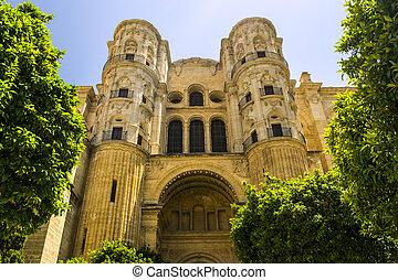 cathédrale, malaga, espagne