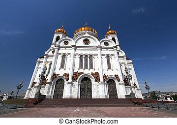cathédrale, moscow., sauveur, christ