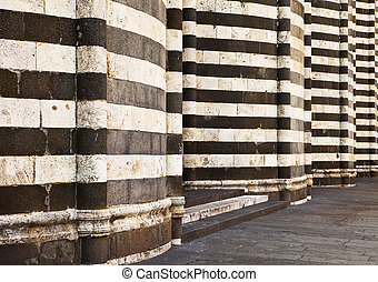 cathédrale, murs,  Orvieto