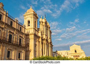 cathédrale, noto, sicile