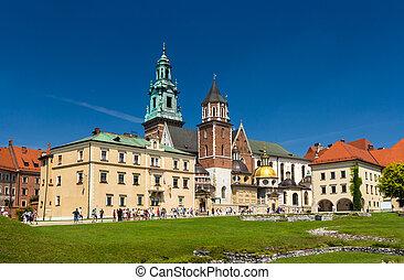 cathédrale, pologne, krakow, wawel