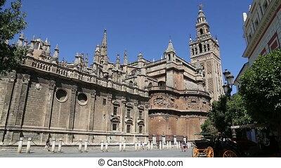 cathédrale, séville, --, espagne