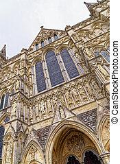 cathédrale, salisbury, wiltshire, angleterre, -