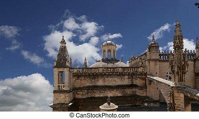 cathédrale, --spain, séville
