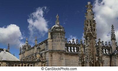 cathédrale, -spain, séville