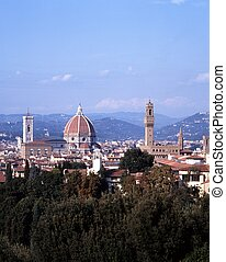 Cathedral and city view, Florence.