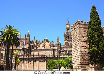 Cathedral and Giralda Tower of Seville, Spain