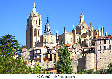 Segovia - Cathedral and old town of Segovia, Spain