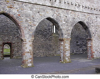 Cathedral arches - arches at Ardfert Cathedral ruins county...